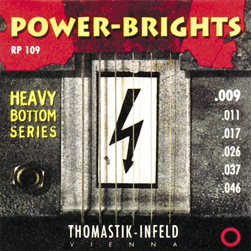 RP109 Power-Brights Heavy Bottom Комплект струн для электрогитары, 9-46, Thomastik